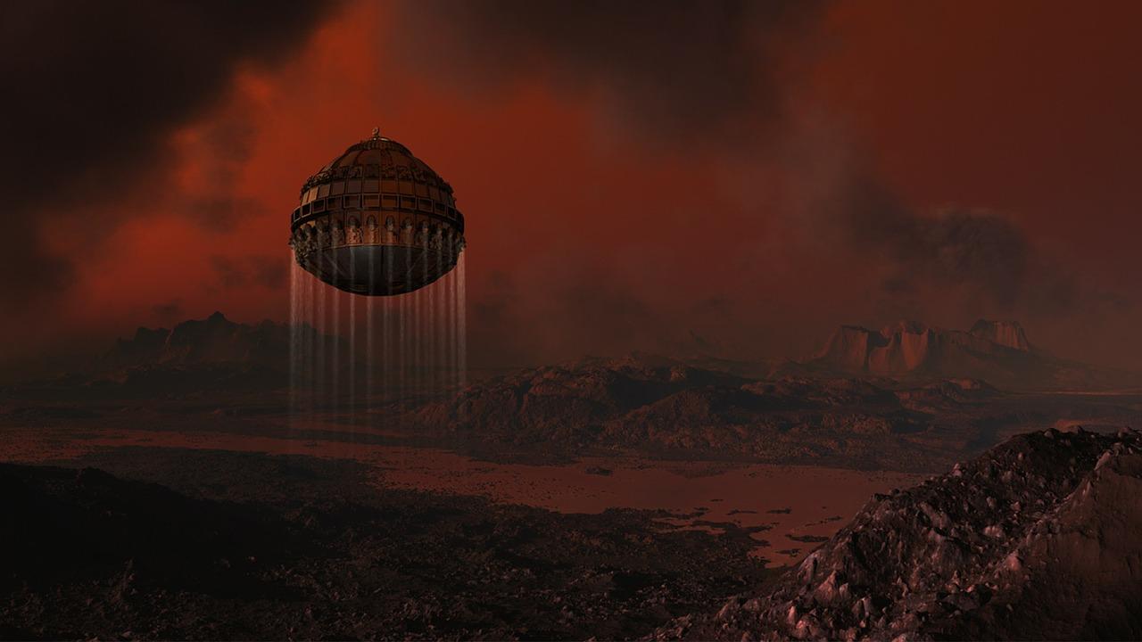 土星の衛星「タイタン」のイメージ画像